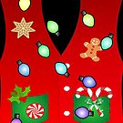 festive gingerbread cookie candy tacky lights ugly christmas sweater by lfang77