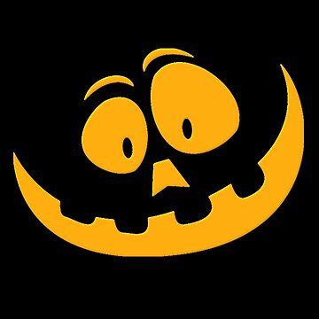 Funny Halloween Pumpkin Face Cute Design by Koffeecrisp