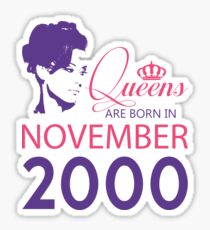 It's My Birthday 18. Made In November 2000. 2000 Gift Ideas. Sticker