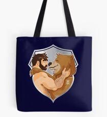 ADAM AND BOBO LIKE CUDDLES - SHIELD VERSION Tote Bag