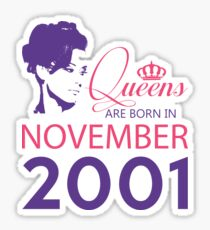 It's My Birthday 17. Made In November 2001. 2001 Gift Ideas. Sticker