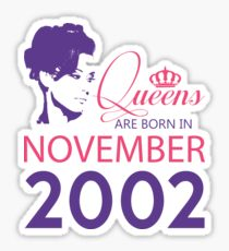 It's My Birthday 16. Made In November 2002. 2002 Gift Ideas. Sticker