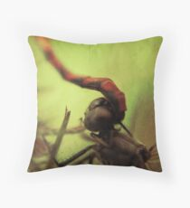 dragonfly world Throw Pillow