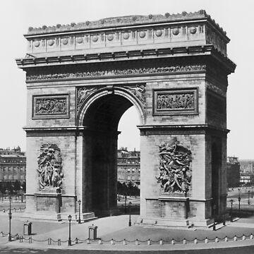 Arc de Triomphe - Weinlese Paris - Circa 1860 von warishellstore
