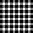 Buffalo Plaid - Black & White by MilitaryCandA
