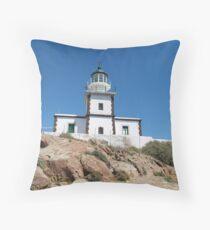 The Lighthouse at Akrotiri Throw Pillow