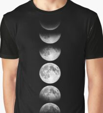 Phases of the Moon - White Graphic T-Shirt