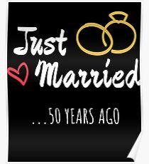 Póster 50 aniversario de bodas regalo recién casado matrimonio