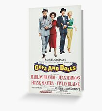 Guys and Dolls Greeting Card