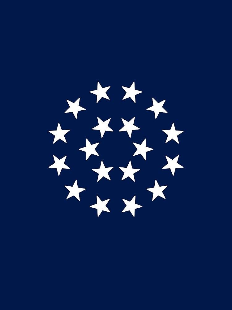 18-Star American Flag, Louisiana, Evry Heart Beats True by EvryHeart