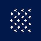 21-Star American Flag, Illinois, Evry Heart Beats True by EvryHeart