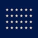 24-Star American Flag, Missouri, Evry Heart Beats True by EvryHeart