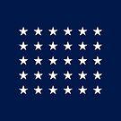 30-Star American Flag, Wisconsin, Evry Heart Beats True by EvryHeart