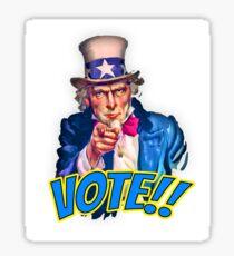Vote Uncle Sam Sticker Sticker