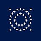 35-Star American Flag, West Virginia, Evry Heart Beats True by EvryHeart