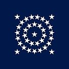 35-Star American Flag, West Virginia, Design B, Evry Heart Beats True by EvryHeart