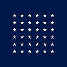 36-Star American Flag, Nevada, Evry Heart Beats True by EvryHeart