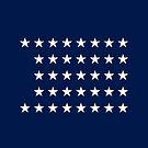 37-Star American Flag, Nebraska, Evry Heart Beats True by EvryHeart