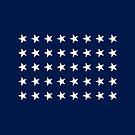 40-Star American Flag, South Dakota, Evry Heart Beats True by EvryHeart
