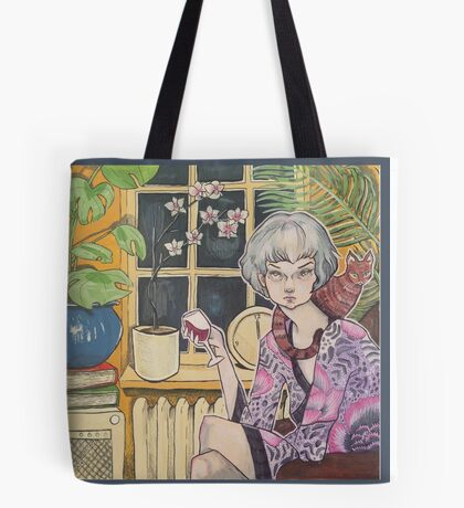 Let's Stay In Tote Bag