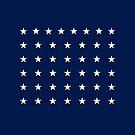 43-Star American Flag, Idaho, Evry Heart Beats True by EvryHeart