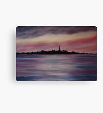 """""""Scattery Island - October Sunset"""" - Oil Painting Canvas Print"""
