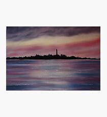 """Scattery Island - October Sunset"" - Oil Painting Photographic Print"