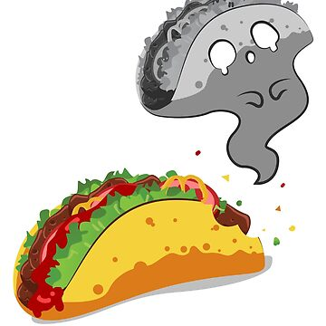 Mexican Food - Cute Scary Taco Tuesdays Ghost Tacos Tshirt by drlayson