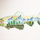 Trout with mountains  by Sunshinesmile83