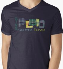 give plaid some love Men's V-Neck T-Shirt