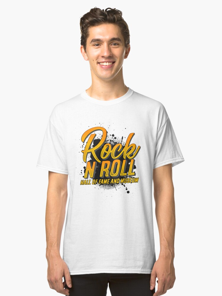 'Rock and Roll Hall of Fame' Cool Rock n Roll Rocker Gift Classic T-Shirt Front