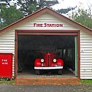 Fire Station at Old Gippstown, Moe Gippsland by Bev Pascoe