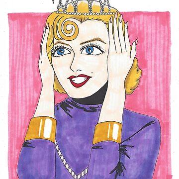 Marilyn Monroe Tiara - Gentlemen Prefer Blondes by m-oonriver