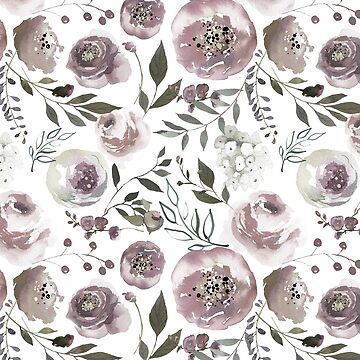 Floral Watercolour Roses Peonies P11 | BLOOMS - FLORALS - GREENERY by mcaussieb