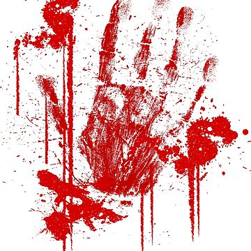 Bloody Hand on My Shirt by WhipLeen