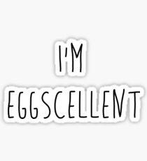 I'm Eggscellent Regular Show Sticker