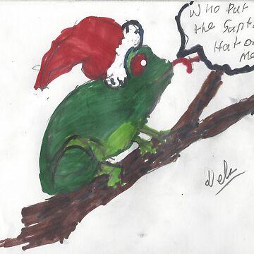 Unimpressed Santa Frog. by Doodles68