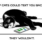 Cats Texting Quote by aheadgraphics