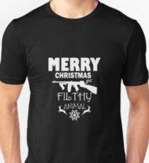 dabfa8ee7 Merry christmas filthy animal shirt 2 Unisex T-Shirt