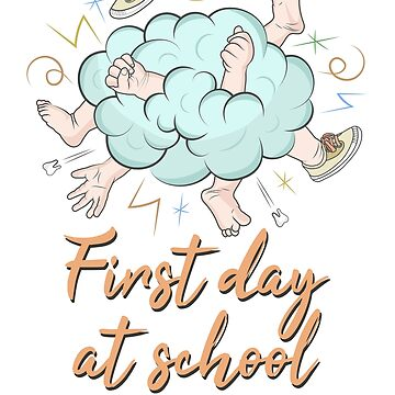 First day at school funny design by portokalis