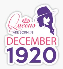 It's My Birthday 98. Made In December 1920. 1920 Gift Ideas. Sticker