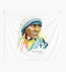 Mother Teresa portrait  Wall Tapestry