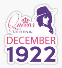 It's My Birthday 96. Made In December 1922. 1922 Gift Ideas. Sticker