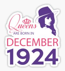 It's My Birthday 94. Made In December 1924. 1924 Gift Ideas. Sticker