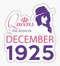 It's My Birthday 93. Made In December 1925. 1925 Gift Ideas. Sticker