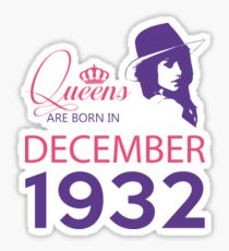 It's My Birthday 86. Made In December 1932. 1932 Gift Ideas. Sticker