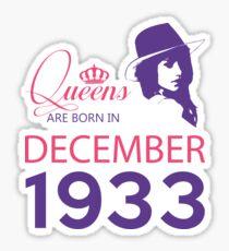 It's My Birthday 85. Made In December 1933. 1933 Gift Ideas. Sticker