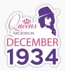 It's My Birthday 84. Made In December 1934. 1934 Gift Ideas. Sticker