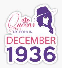 It's My Birthday 82. Made In December 1936. 1936 Gift Ideas. Sticker