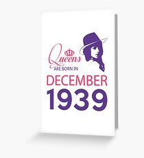 It's My Birthday 79. Made In December 1939. 1939 Gift Ideas. Greeting Card